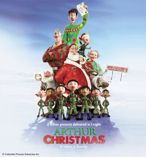 Free Family Movie: Arthur Christmas (2011)