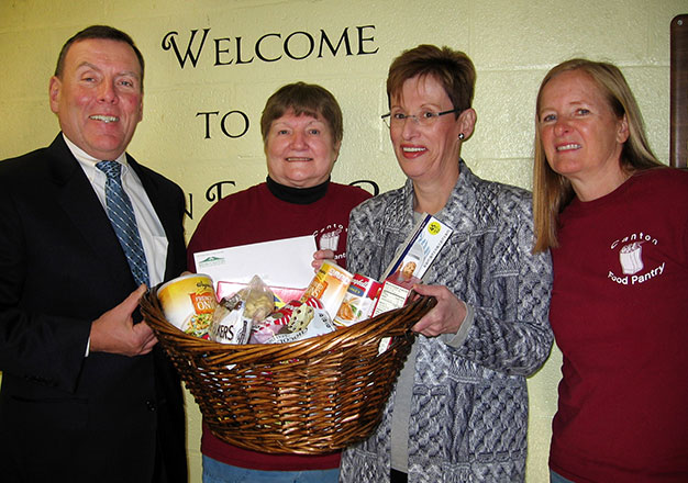 Bank of Canton food pantry donation