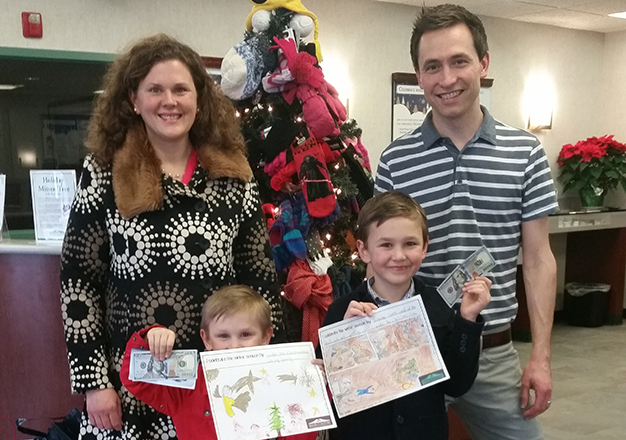 Bank of Canton drawing contest winners Brookline