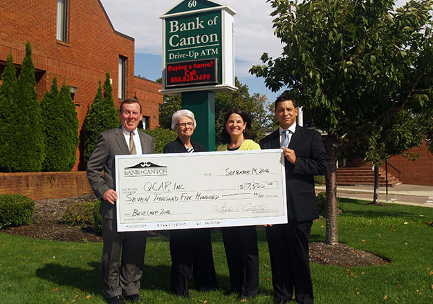 bank of canton QCAP donation