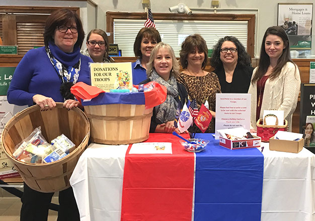 donations for troops Main Office branch