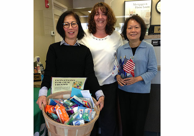 donations for troops Quincy branch